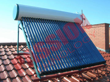 China Roof Flat Solar Water Heater , Copper Pipe Solar Water Heater For Washing supplier