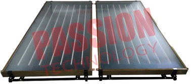 China Copper Pipe Blue Film EPDM Flat Plate Solar Collector For Large Heating Project supplier