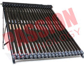China 20 Tubes U Pipe Solar Collector For House Black Manifold Wind Resistance company