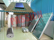 China High Performance Split Solar Water Heater Flat Plate Blue Titanium Coating  factory
