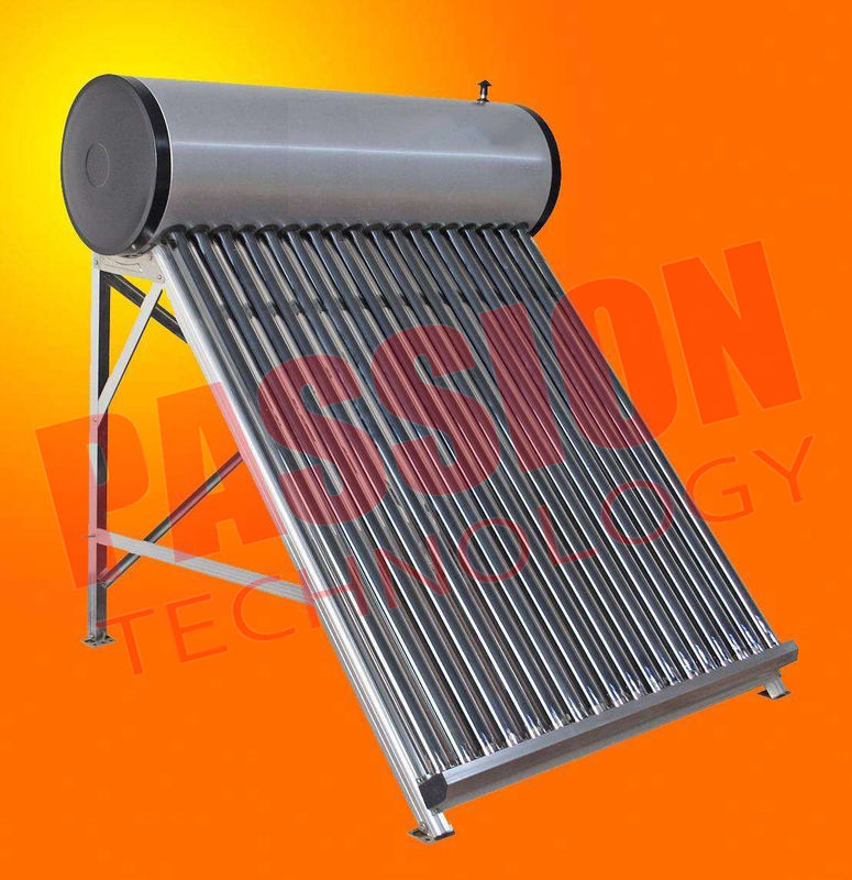 Wall Mounted Solar Water Heater , Tube Solar Hot Water System For Room Heating