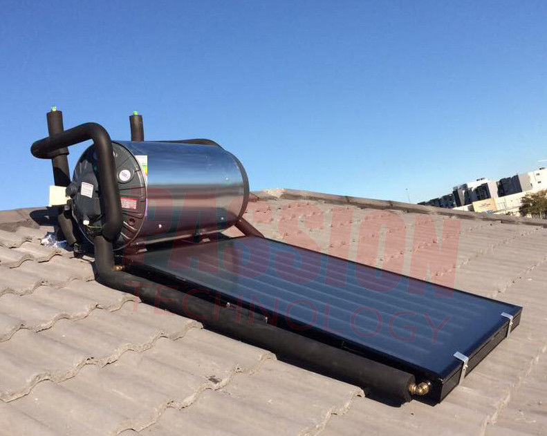 150L 300L Flat Plate Pressurized Solar Water Heater , Solar Hot Water System Geysers