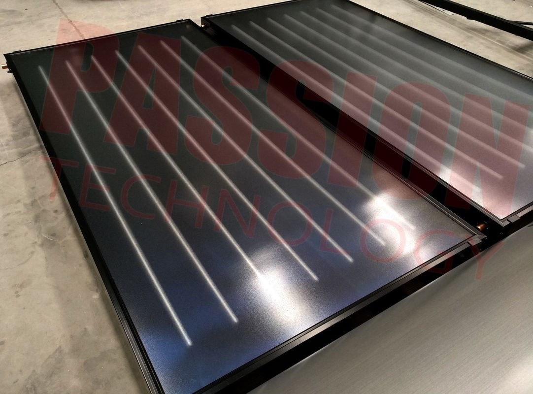 Aluminum Blue Absorber Flat Plate Solar Collector Hotel Solar Hot Water Heater