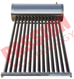 150L Stainless Steel Compact Non Pressurized Vacuum Tube Solar Water Heater For Shower Kitchen