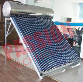 China 200L Capacity Vacuum Tube Solar Water Heater Portable Galvanized Steel Frame factory