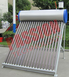 China 250L Pre Heated Solar Water Heater Vacuum Tube With Assistant Tank 6 Years Warranty factory