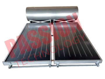 China Freestanding Flat Plate Solar Water Heater , Solar Hot Water System With 2 Collectors factory