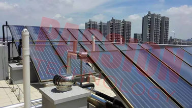 CE Flat Plate Solar Collector For Hotel Heating System , Copper Pipe Solar Heat Collector