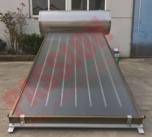 China Integrated Pressurized Flat Plate Collector Rooftop Hot Water Heater Full Copper Aluminum Sheet factory
