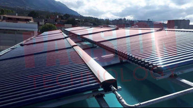 China 1000L-10000L Pool Hotel Solar Heating Solution Pressurized Heat Pipe Solar Collector factory