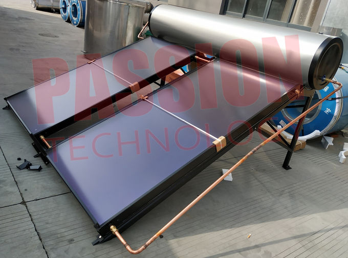 Compact Pressurized Flat Plate Solar Water Heater Blue Coating Flat Plate Solar Collector